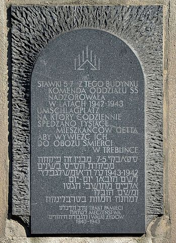 Memorial Route of Jewish Martyrdom and Struggle in Warsaw