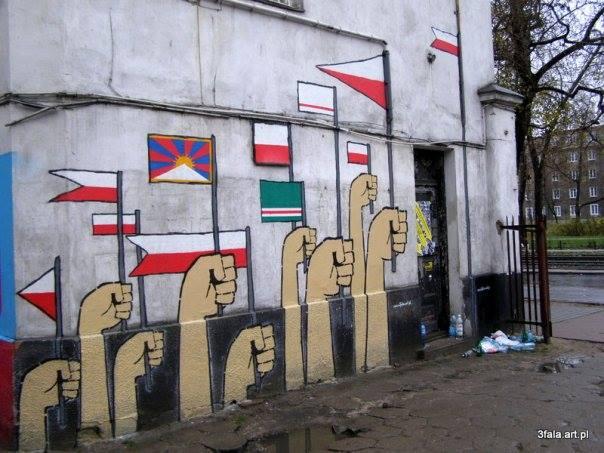 Mural z okazji Narodowego Święta Niepodległości